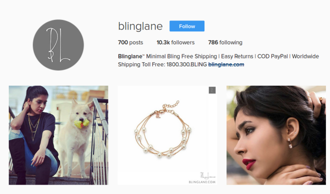 Blinglane - Instagram